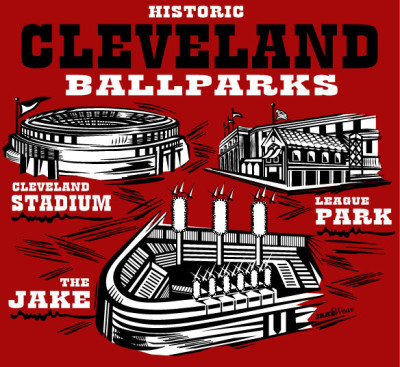 Cleveland Ballparks Red